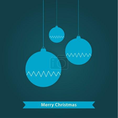 Vector Christmas decoration. Stylized Christmas balls. Minimalis