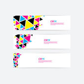 CMYK color profile Abstract triangle flow - twister in cmyk col