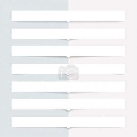 Illustration for Vector transparent shadows. Box with little arrow. Popular element for websites. - Royalty Free Image