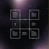 Vector space background Purple galaxies with shining stars Cre
