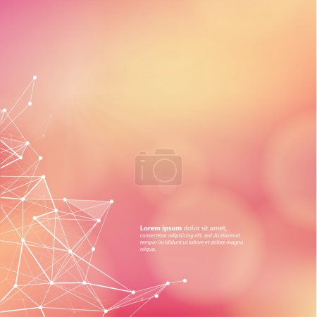 Vector abstract template with colorfully blurred background. Fre
