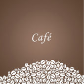 Vector coffee background. Decorative square background with plac