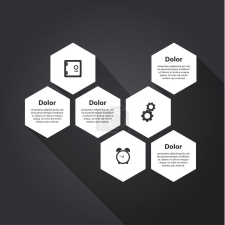 Vector template - four choices, steps with place for text and im