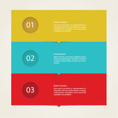 Vector - solid box template pointer Four colorfully stripes with space for your content  Four steps - choices in different colors Modern flatdesign Can be used as infographics tutorial or presentation