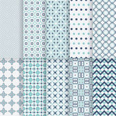 Pack of decorative vector patterns Ten completely editable and tileable patterns for your design