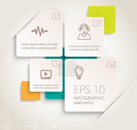 Illustration for Modern design of infographic elements. Vector illustrations - Royalty Free Image