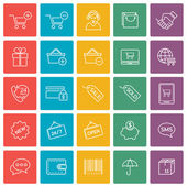 Shopping and e-commerce icons set