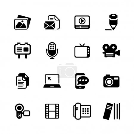 Multimedia Icons basic black series