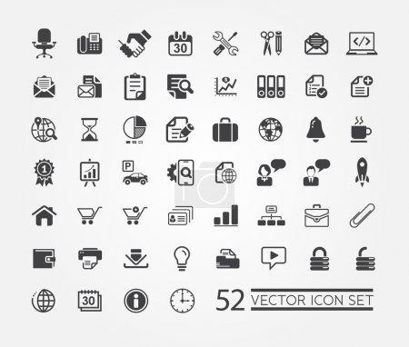 Photo pour Ensemble d'icônes web pour les entreprises, la finance et la communication - image libre de droit