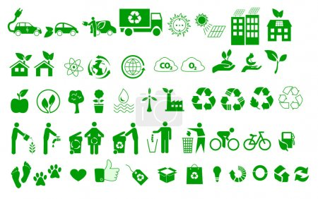 Ecology, environment, recycle icons signs set