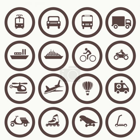 Illustration for Transportation icons design elements. Vector illustration. Simple icon - Royalty Free Image