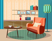 Vector vintage room retro design