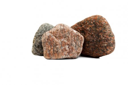 Photo for Red granite stone isolated on white background - Royalty Free Image