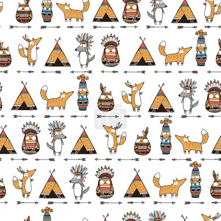 Funny indian animals pattern...