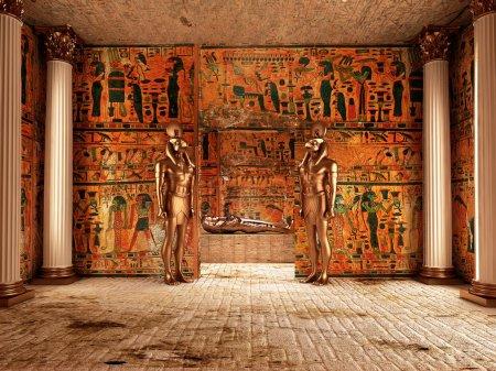 Photo pour Tombeau du Pharaon (rendu 3d  ) - image libre de droit