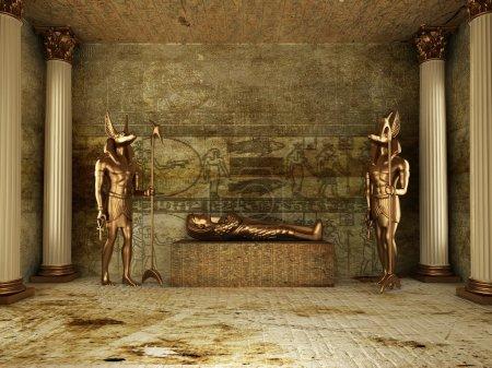 Photo pour Tombe du pharaon (rendu 3d) - image libre de droit