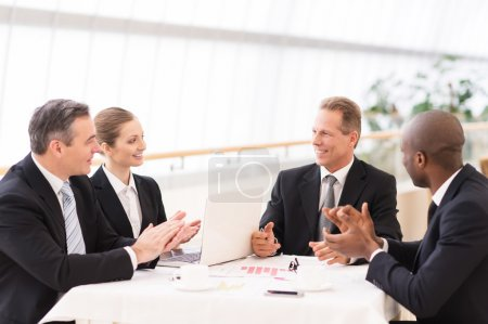 Business people at table