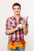 Handyman with tool belt