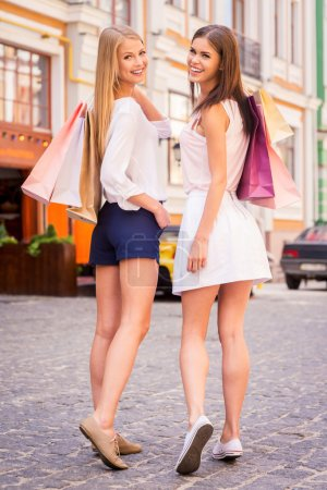 Women holding shopping bags