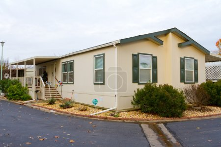 A new manufactured home at a retirement trailer pa...