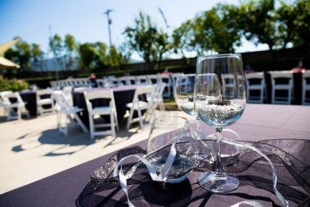Wine Glass Wedding Reception