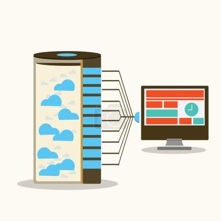 Server and workstations computing