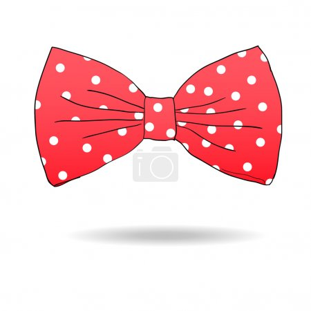Illustration for Bow tie. Vector illustration - Royalty Free Image