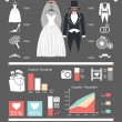 Постер, плакат: Wedding infographics set