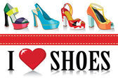 Colorful fashion women's shoesFashion illustration