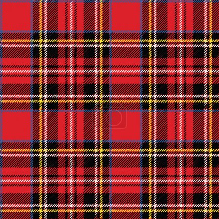 Red, black, bluе ,yellow and white tartan traditi...