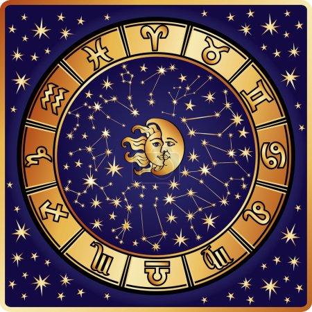 Horoscope circle.Zodiac sign