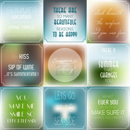 Set of vintage Typographic Backgrounds,  Motivational Quotes