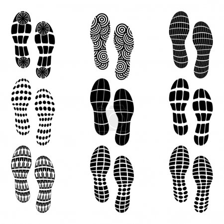 Shoeprint traces