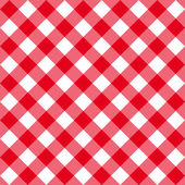 Table diagonal cloth seamless pattern red middle size