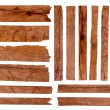 Wood plank, isolated on white background (Save Pat...