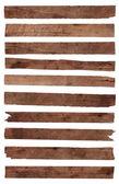 Wood plank isolated on white background