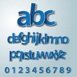 Vector alphabet set, paper, stickers, labels, tags...
