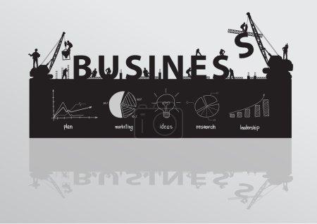 Construction site crane building business text idea concept.