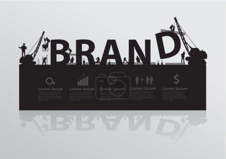 Construction site crane building brand text idea concept