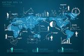 Modern global business economy map