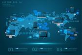 Modern global business technology concept.