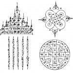 Thai Tattoo Ancient. Vector template...