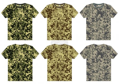 Men's Military Shirts front and back view