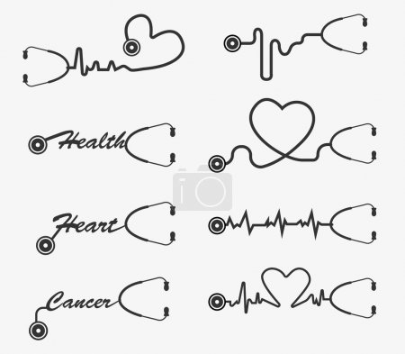 Vector stethoscope icons design