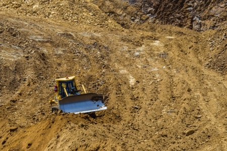 Earthworks Machine Grading Construction