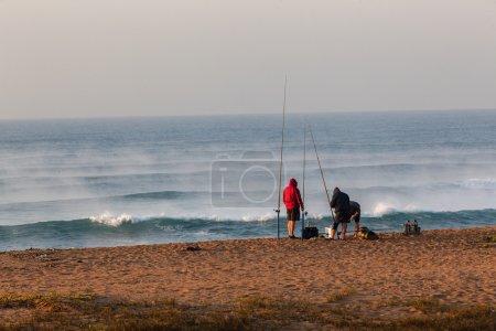 Fishermen Beach Sea Mist