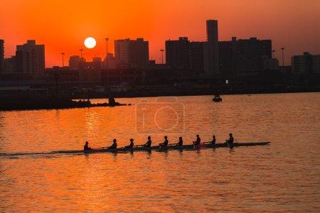 Regatta Rowing Eights Team Sunrise Color