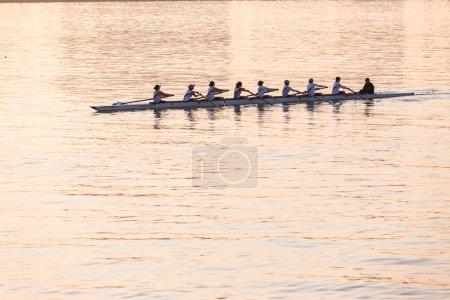 Regatta Rowing Eights Girls Team Sunrise Color