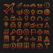 Set of 46 vector travel icons