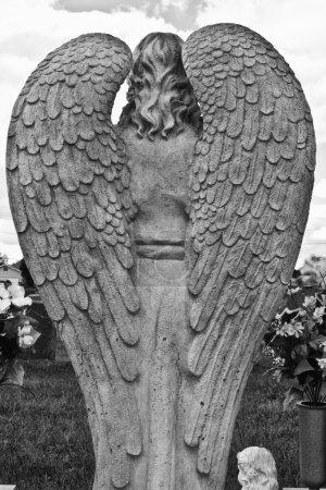 A Pair of Granite Angel Wings